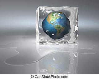 congelado, tierra