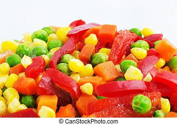 congelado, vegetales