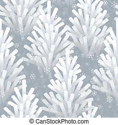 congelato, albero, natale, seamless