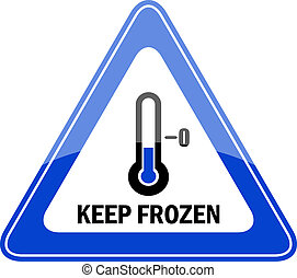 congelato, custodire, vettore, segno