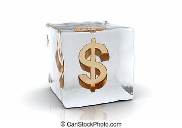 congelato, dollaro