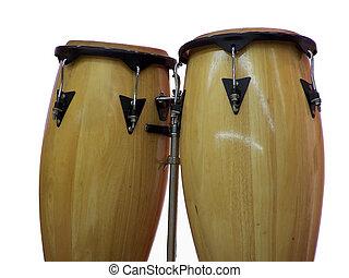 Congo Drums - Closeup isolation of Congo Drums
