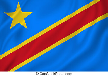 Congo flag - Democratic Republic of the Congo flag.