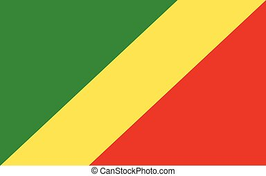 Congo flag vector graphic. Rectangle Congolese flag ...