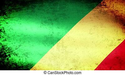 Congo Flag Waving, grunge