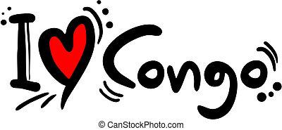 Congo love - Creative design of congo love