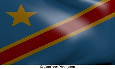 congo strong wind flag