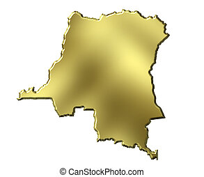Congo the Democratic Republic of the, 3d Golden Map