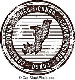 Congo Vintage Country Stamp for Tourism