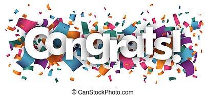 Confetti with text Congrats.