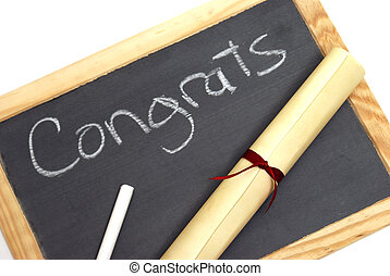 Congrats Graduates - A congratulation note wrote in chalk...