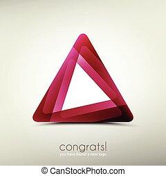 abstract logo template icon. vector graphic design. triangle symbol