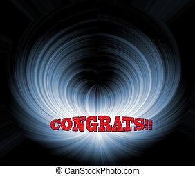 congrats or congradulations sign