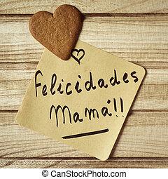Félicitations Texte Felicidades Espagnol Gâteau Muchas