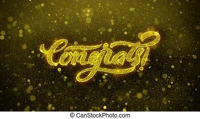 Congrats Wishes Greetings card, Invitation, Celebration Firework