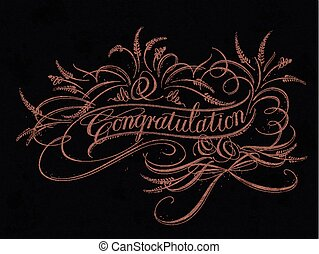 Congratulation calligraphy design