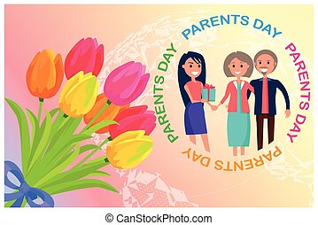Congratulation Card Dedicated to Parents Day