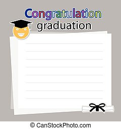 Congratulation graduation on white background