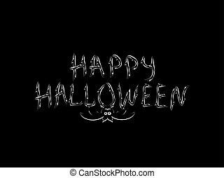 Congratulation happy Halloween inscription