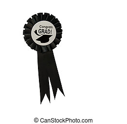 Congratulation on graduate - The fabric brooch with Congrats...