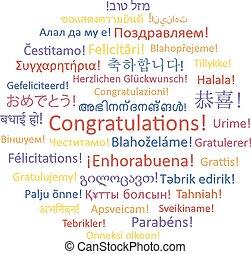 congratulations., 単語, コラージュ
