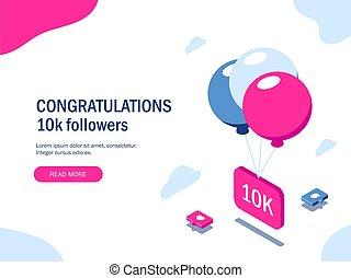 Congratulations 10k followers.