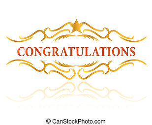 A congratulations gift card in vector format