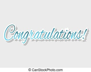 Congratulations banner, vector illustration