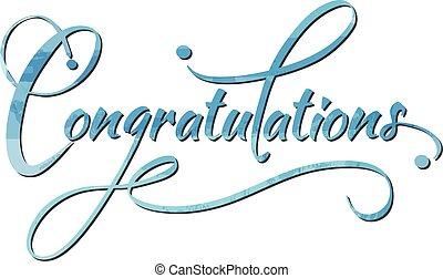 Congratulations caligraphy