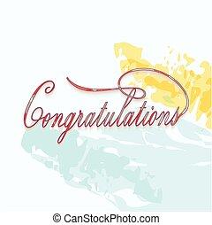 Congratulations calligraphy.