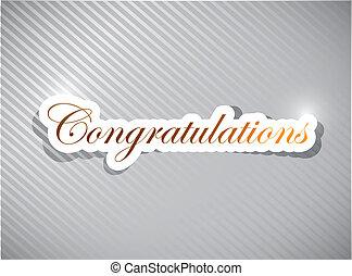 congratulations card illustration design