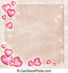 Congratulations Card with Hearts