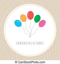 Congratulations card1 - Colorful balloon card for...