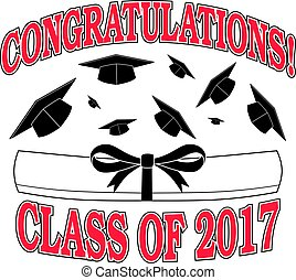 Congratulations Class of 2017 is an illustration of a...