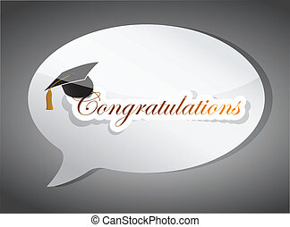 congratulations education speech bubble