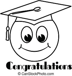 congratulations - humorous illustration for graduation on...