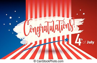 Congratulations Labor Day Holiday patriotic American flag card