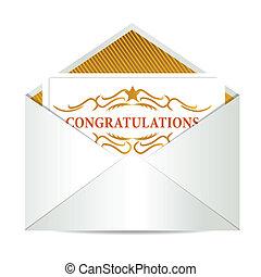 congratulations mail illustration design over a white...