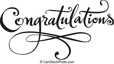 Congratulations - My own calligraphy rendered in vector