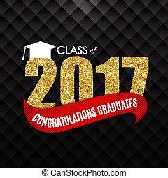 Congratulations on Graduation 2017 Class Background Vector Illustration