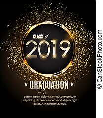 Congratulations on Graduation 2019 Class Background Vector Illustration