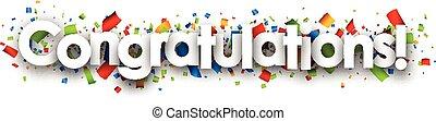 Congratulations paper banner. - Congratulations paper banner...