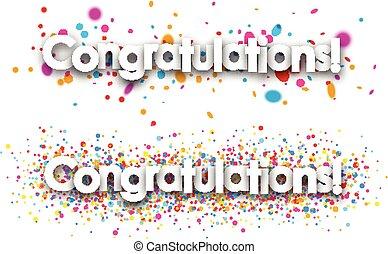 Congratulations paper banners. - Congratulations paper...