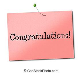 Sign Congratulations Indicating Celebrate Accomplish And Accomplishment