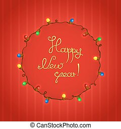 Congratulations to New Year vector illustration