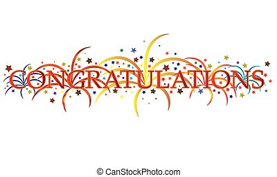 Congratulations - Vector illustration congratulations with...