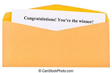 Congratulations! You're the winner !