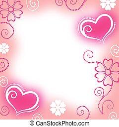 Congratulatory background of valentine - Vector...