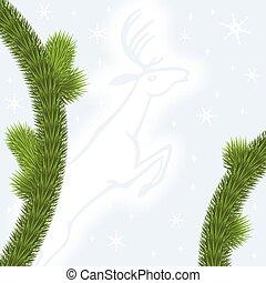 Congratulatory background with fir