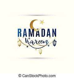 Congratulatory banner Ramadan Kareem.
